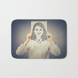 Covering face emotion Bath Mat