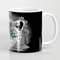 snow leopard Mugs featuring Snow Leopard by chobopop