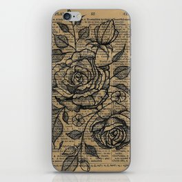 Antiqued Roses iPhone Skin