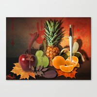 fruits Canvas Prints featuring Fruits by Katerina Gold
