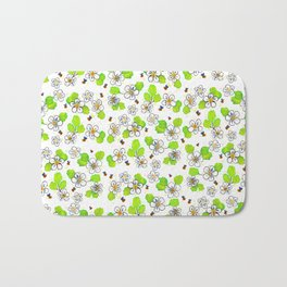 Bees in the Strawberry Blossoms Bath Mat