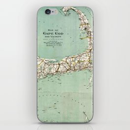 Cap Cod and Vicinity Map iPhone Skin