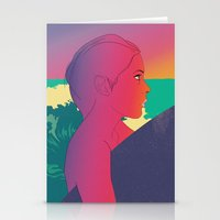 surfer Stationery Cards featuring Surfer by martiszu