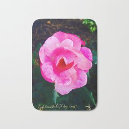 Pink Roses Don't Get Any Love - Pink Rose Bath Mat