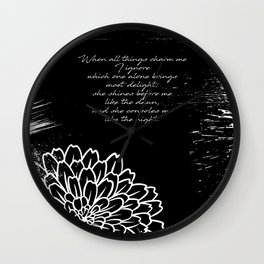Charles Baudelaire - The Temptation - She consoles me like the night Wall Clock
