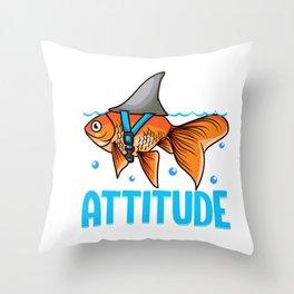 Attitude of a Shark Fish Confidence & Self Belief Throw Pillow