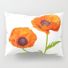 Two beautiful  poppies Pillow Sham