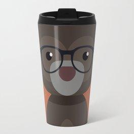 Hipster Bear Travel Mug
