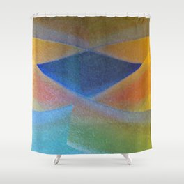 Blue Diamond Squared Shower Curtain