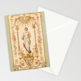 French Aubusson  Antique Tapestry Print Stationery Cards