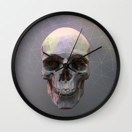 Skull Colorful Wires 1 Wall Clock