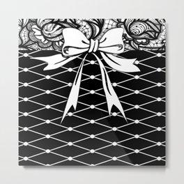 Sassy Fishnets Metal Print