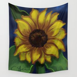 Dramatic Sunflower DP141118a Wall Tapestry