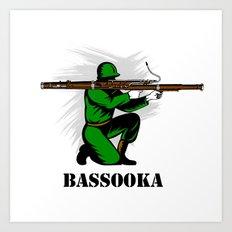 Bassoon Bassooka Art Print
