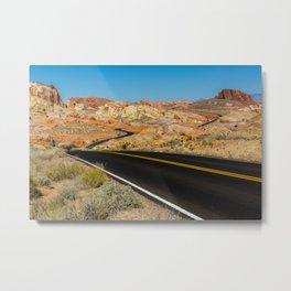 Desert Roads Metal Print