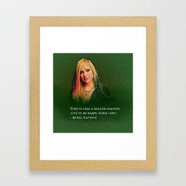 avril lavigne desain 004 Framed Art Print