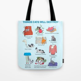 Things Cats Will Destroy Tote Bag
