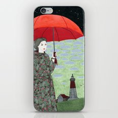 Red Umbrella iPhone & iPod Skin