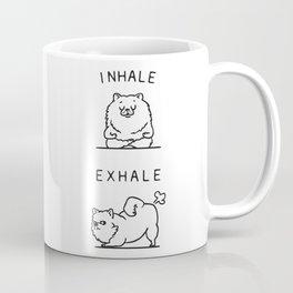Inhale Exhale Pomeranian Coffee Mug