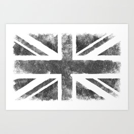 Grey UK Flag Art Print