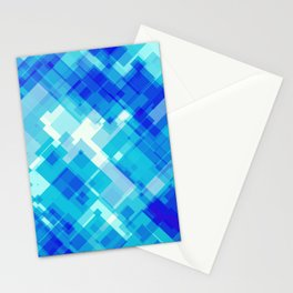 Digital Blue Pool Stationery Cards