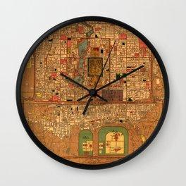 Map Of Peking 1914 Wall Clock