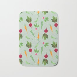 Eat more veggies! Light version Bath Mat