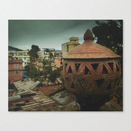 Kathmandu City Roof Tops - Architecture 04 Canvas Print