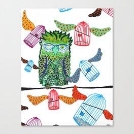 Wary Owl Canvas Print