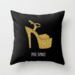 Gold dreams Throw Pillow