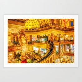 Caesars Palace Shopping Center Las Vegas Art Print