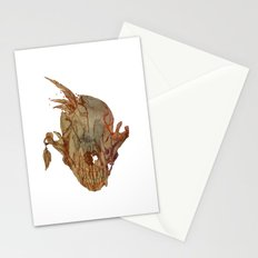 feathers and skull Stationery Cards