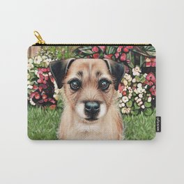 Cute Border Terrier Painting Carry-All Pouch