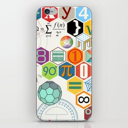 Math in color (white Background) iPhone Skin
