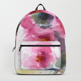 Pink Peony Bouquet Backpack