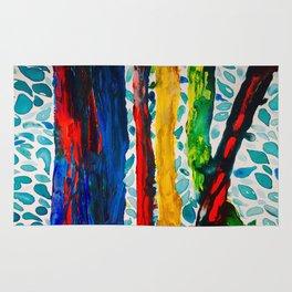 Rainbow Eucalyptus Graffiti Artist Tree naturally shedding bark from the South Pacific Rug