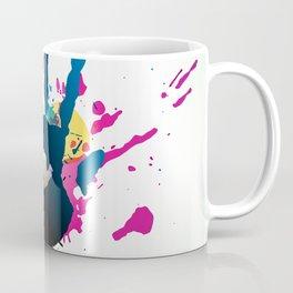 Grunge hand on paint splashes Coffee Mug