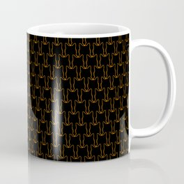 Micro Cats Pattern - Halloween Black Orange Coffee Mug