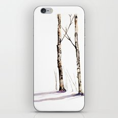 Birch Trees in January iPhone & iPod Skin