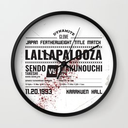 Lallapalooza Poster Wall Clock