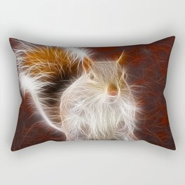 Fractalius Grey Squirrel Rectangular Pillow