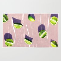fruit Area & Throw Rugs featuring fruit 10 by LEEMO