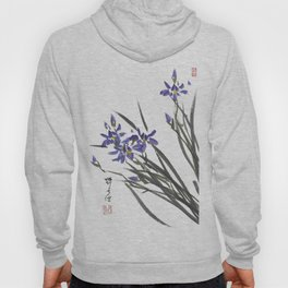Blue Iris Orchid One Hoody