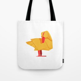 Origami Duck Tote Bag