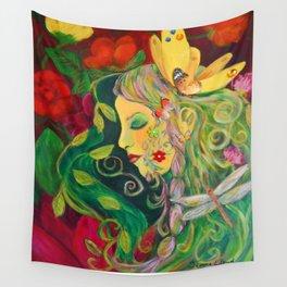 Flower Goddess Wall Tapestry