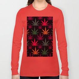 Colorful Marijuna Weed Long Sleeve T-shirt