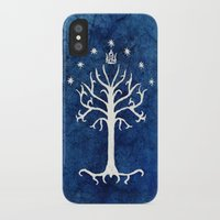 lotr iPhone & iPod Cases featuring The White Tree by Jackie Sullivan
