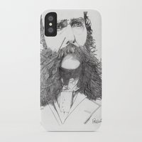 moustache iPhone & iPod Cases featuring Moustache by Paul Nelson-Esch Art