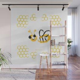 Happy bee Wall Mural