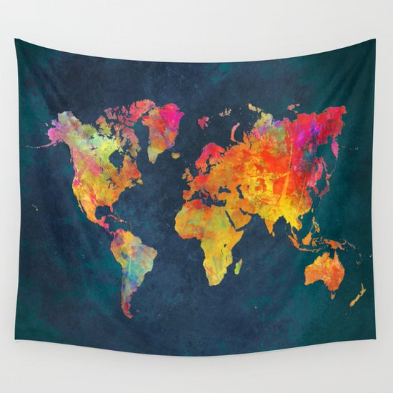 World maps art jbjart world map tapestry sciox Choice Image